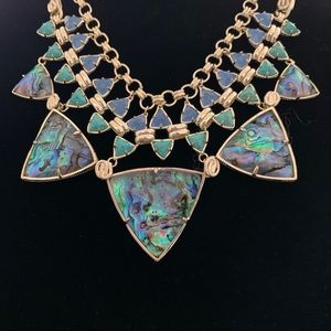 Kendra Scott EMILY Gold Abalone Necklace in EUC